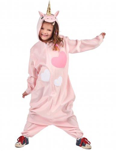 Roze hartjes eenhoorn kostuum voor meisjes