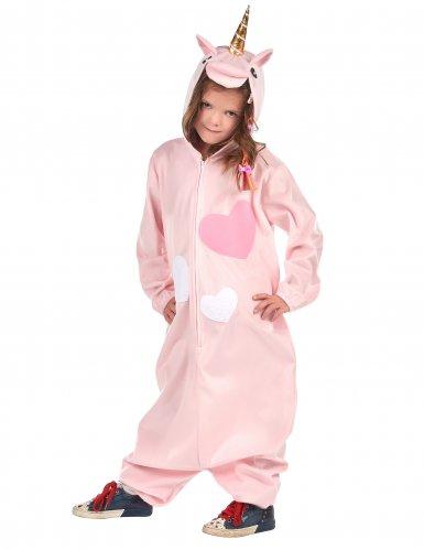 Roze hartjes eenhoorn kostuum voor meisjes-1