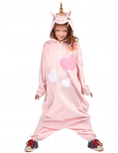 Roze hartjes eenhoorn kostuum voor meisjes-2