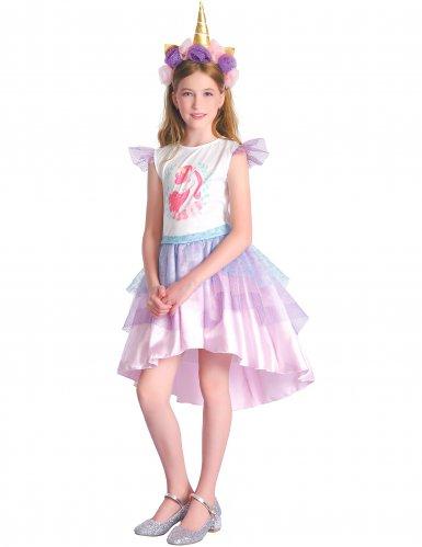 Roze eenhoorn jurk outfit voor meisjes