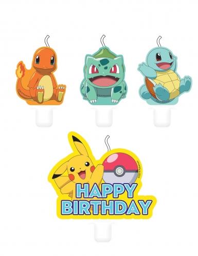 4 Pokemon verjaardag kaarsjes