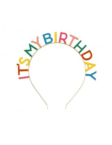 It's My Birthday haarband voor volwassenen