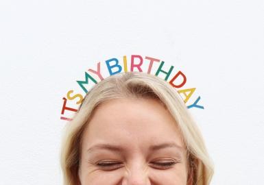It's My Birthday haarband voor volwassenen-1