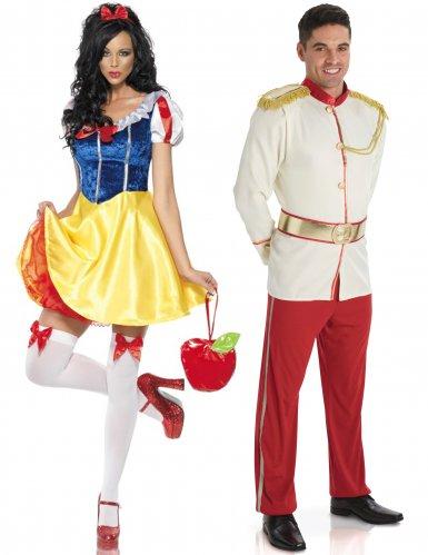 Sprookjes prins en prinses koppelkostuum voor volwassenen