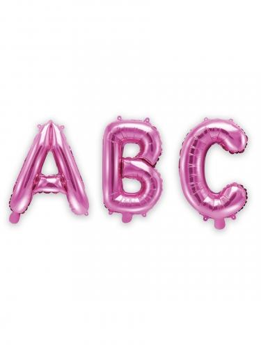 Kleine fuchsia aluminium letter ballon