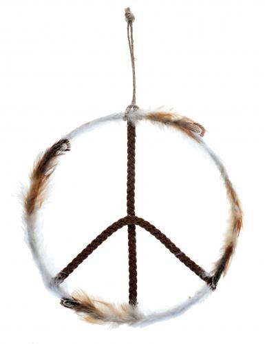 Peruaanse metalen love and peace decoratie