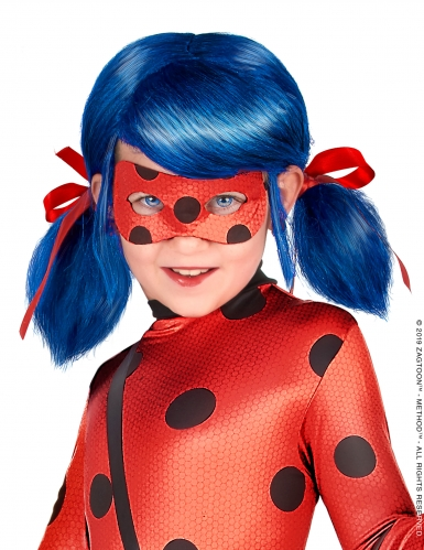 Blauwe Miraculous Ladybug™ pruik voor meisjes