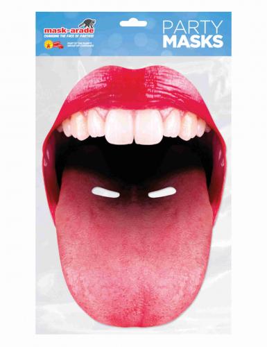 Grote mond met uitgestoken tong masker voor volwassenen