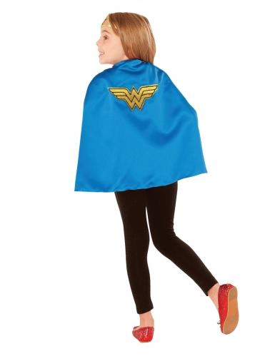 Blauwe Wonder Woman™ cape voor kinderen