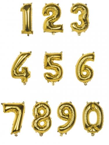 Goudkleurige aluminium cijfer ballon-1