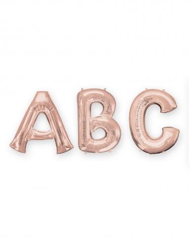 Rosé gouden aluminium letter ballon