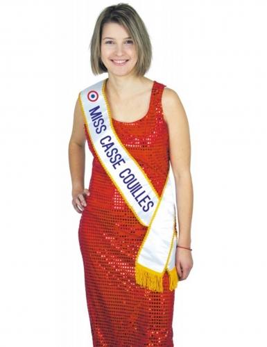 Grappige Miss Casse-Couilles sjaal voor volwassenen
