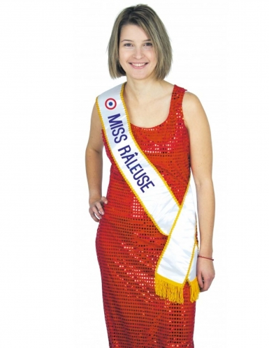 Grappige Miss Râleuse sjaal voor volwassenen