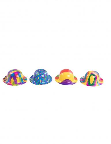 Plastic mini clown bolhoed voor volwassenen