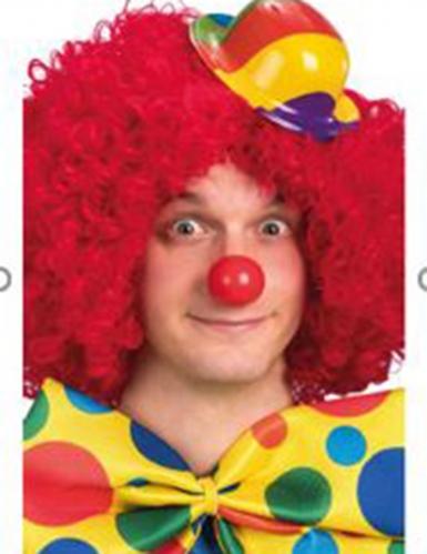 Plastic mini clown bolhoed voor volwassenen-1