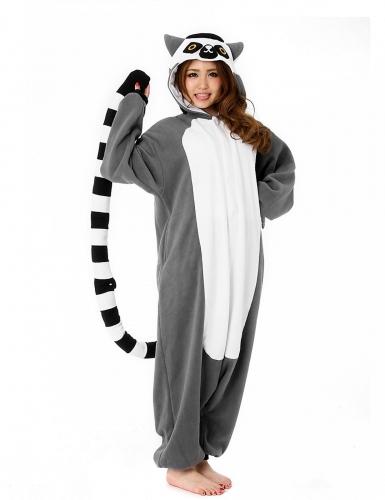 Kigurumi™ lemur pak voor volwassenen