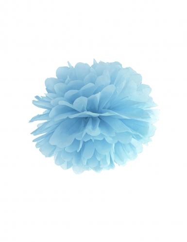 Blauwe papieren pompon decoratie