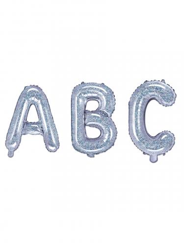 Regenboogkleurige aluminium letter ballon