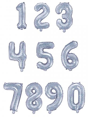 Aluminium regenboogkleurige cijfer ballon-1