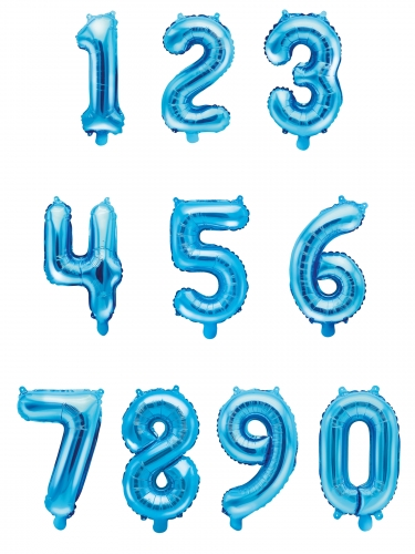 Aluminium blauwe cijfer ballon-1