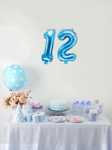 Aluminium blauwe cijfer ballon-2