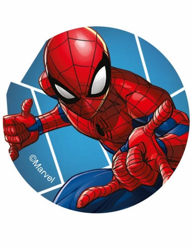 12 eetbare Spiderman™ koek decoraties-2