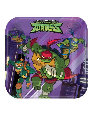 8 kleine vierkante Rise of the Ninja Turtles™ borden