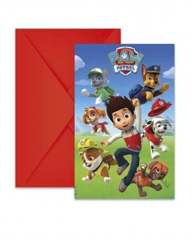 6 Paw Patrol Ready for Action™ uitnodigingen en enveloppen