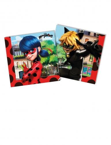 20 papieren Miraculous Ladybug™ servetten