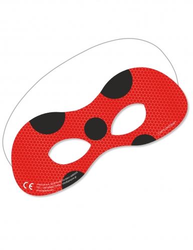 6 kartonnen Miraculous Ladybug™ maskers
