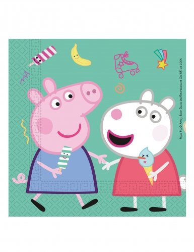 20 papieren Peppa Pig™ feest servetten