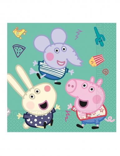 20 papieren Peppa Pig™ feest servetten-1