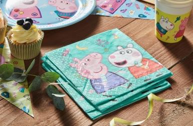 20 papieren Peppa Pig™ feest servetten-2