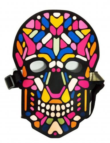 Doodskop masker met licht en geluid voor volwassenen