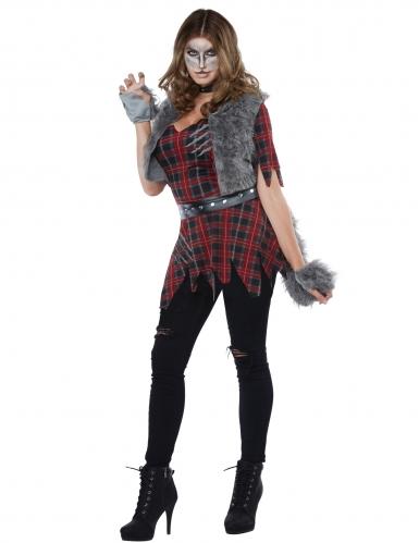 Weerwolf kostuum met nepbont voor vrouwen-1
