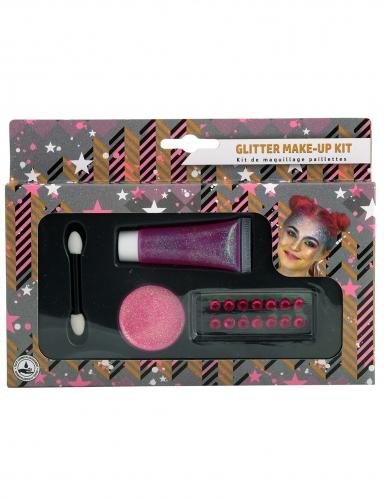 Glitter roze schmink set