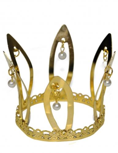 Goudkleurige middeleeuwse kroon voor volwassenen