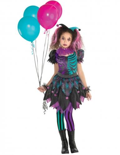 Gekwelde harlekijn outfit voor meisjes