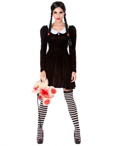 Duister schoolmeisje kostuum voor vrouwen