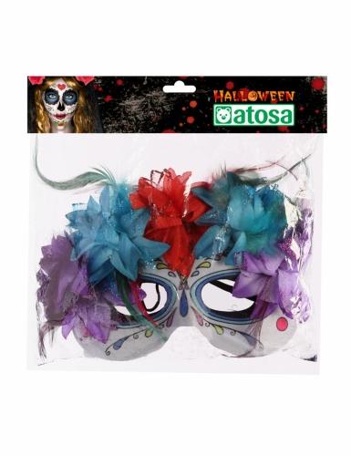 Veelkleurige Dia de los Muertos masker voor volwassenen-1