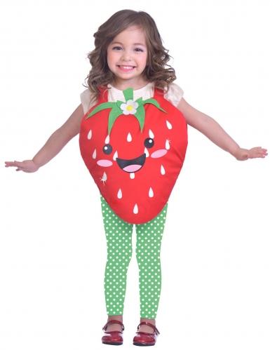 Kleine aardbei outfit voor meisjes