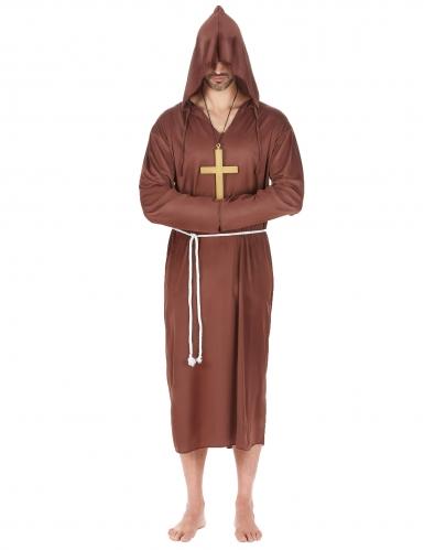 Bruin monnik kostuum voor mannen - Grote Maten