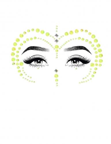 Groene juwelen voor gezicht-1