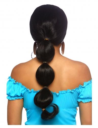 Luxe lange zwarte Oosterse prinses pruik voor vrouwen-1