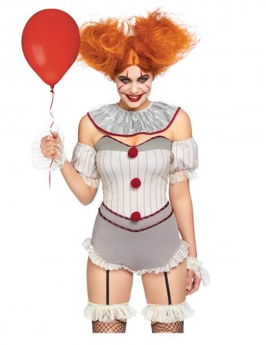 Luxe sexy killer clown kostuum voor vrouwen