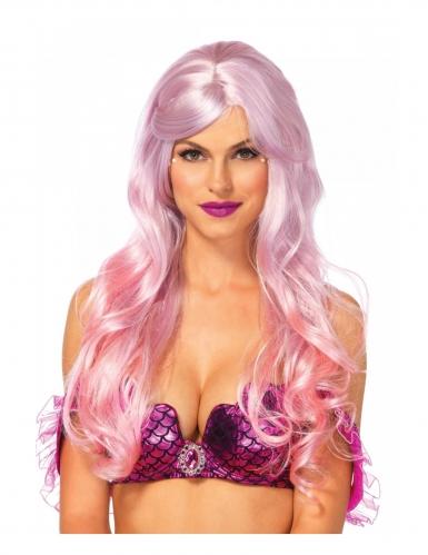 Luxe roze zeemeermin pruik voor dames