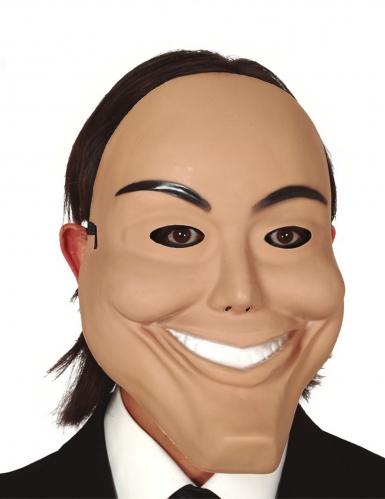 Lachende psychopaat masker van PVC voor volwassenen