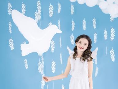 Witte aluminium duif ballon-1