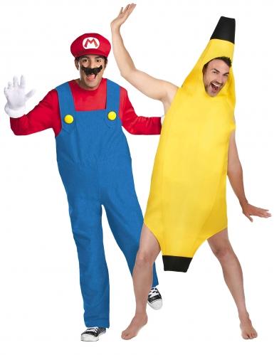 Mario™ en banaan koppelkostuum voor volwassenen