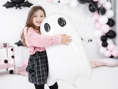 Witte aluminium spook ballon-1